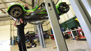 Long-term test review: Caterham 270S weighing