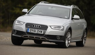 Audi A4 allroad front cornering