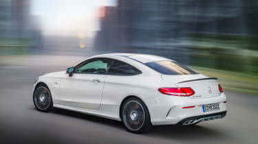 Mercedes C 43 AMG Coupe - rear driving