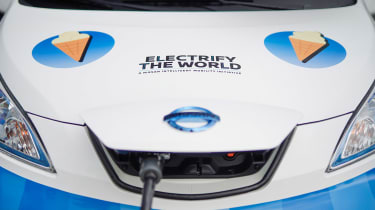 Nissan ice cream van - full front charging