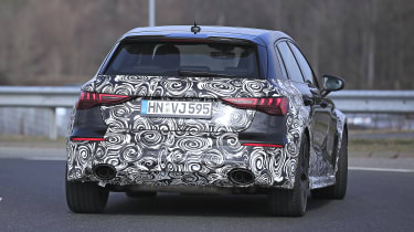 Audi RS3 2021 spy - rear