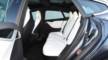 Tesla Model S P100D - rear seats