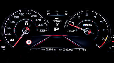 BMW M5 Competition - dials