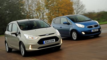 Ford B-MAX and Kia Venga front tracking