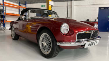 Electric MGB - front red