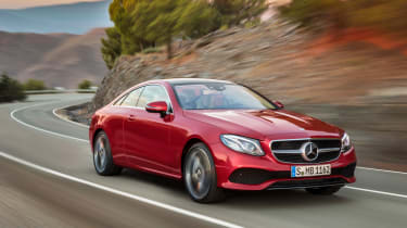Mercedes E-Class Coupe - front tracking