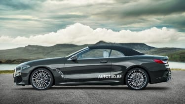 bmw 8 series convertible leaked static roof up