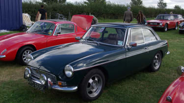 If you've ever wanted to see an MGB, this is the place: there are hundreds and hundreds of them.