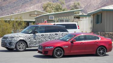 Jaguar XE mild hybrid spy shot