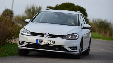 New Volkswagen Golf Estate - front cornering