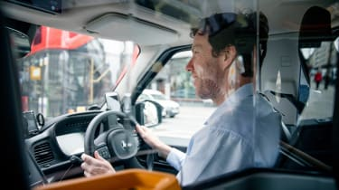 LEVC TX taxi - driving