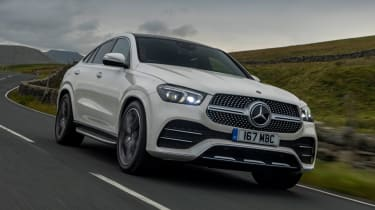 Mercedes GLE Coupe twin test - front
