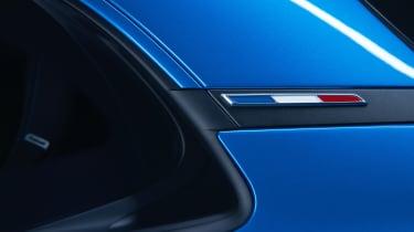 Alpine A110 sports car 2017 - studio flag