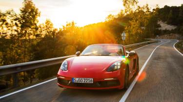 Porsche 718 Boxster T - front sunset
