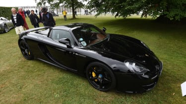 It's not just 20<sup>th</sup> century Porsches on display at Goodwood: this Carrera GT was also on display for the Concours D'Elegance