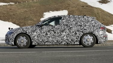 Audi A3 spied - side tracking