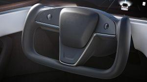 Tesla Model X facelift - steering wheel