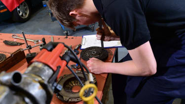 Workbench in workshop