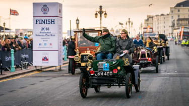London to Brighton Veteran Car Run  -  steve wave finish