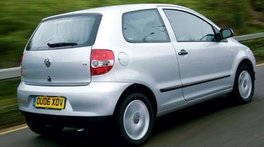 Rear view of Volkswagen Fox