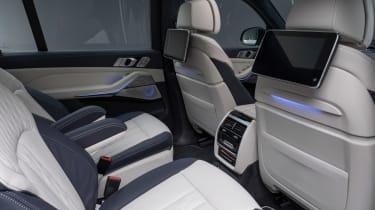 New BMW X7 studio shoot rear seats