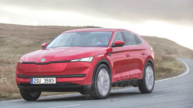 Skoda electric Coupe SUV render