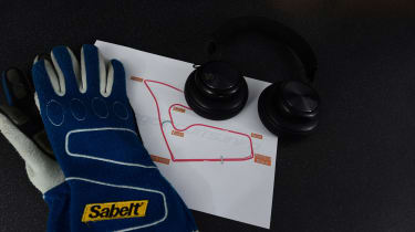 Headphones and track map