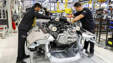 Pope Francis Lamborghini Huracan production assembly