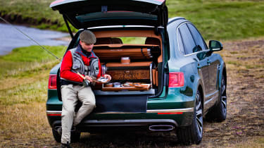Bentley Mulliner Fishing kit man in boot far