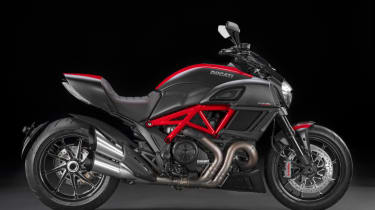 Ducati Diavel review - black and red side profile