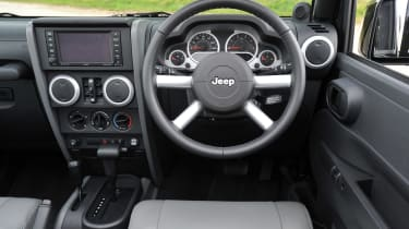 The interior features loads of easy-clean plastics and chunky details.