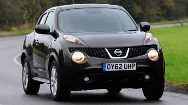Nissan Juke front cornering
