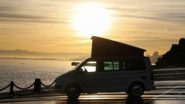 Volkswagen California in a sunset