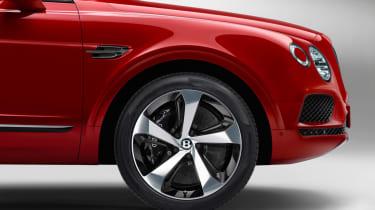 Bentley Bentayga V8 petrol announced - front alloy