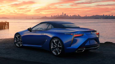 Lexus LC Convertible - rear roof up static