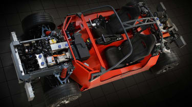 Ariel Hipercar chassis and tech top down
