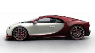 Bugatti Chiron - cream/red
