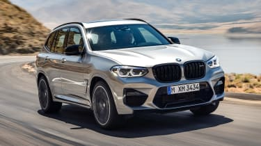 BMW X3 M Competition - front tracking