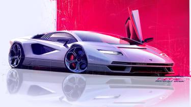 Lamborghini Countach LPI 800-4 sketch