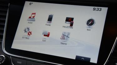 Vauxhall Astra Sports Tourer diesel 2016 - touchscreen