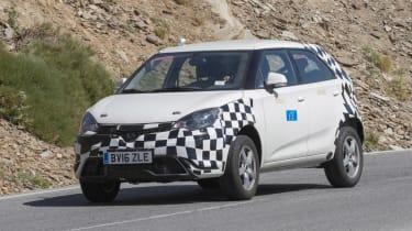 MG ZS spied - front