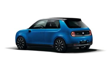 Honda e rear blue