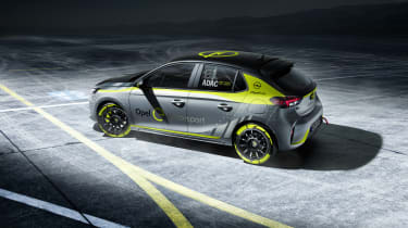 Vauxhall Corsa-e rally - side shot