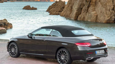 New Mercedes C-Class Cabrio - rear roof up