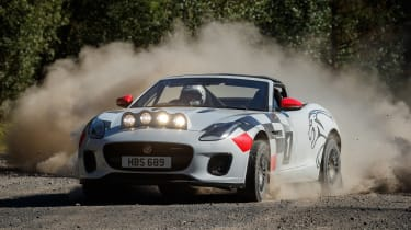 Jaguar F-Type rally car - front