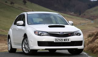 Subaru WRX STi Hatchback front three-quarters