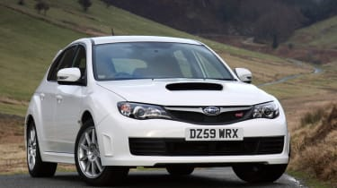 Subaru WRX STi Hatchback front three-quarters