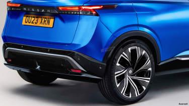 Nissan Juke EV - rear detail (watermarked)