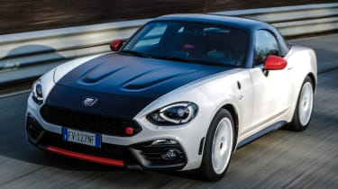 abarth 124 spider rally tribute tracking front