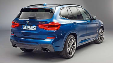 New BMW X3 - rear